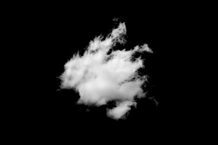 White cloud on black background Reklamní fotografie