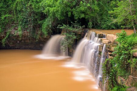 Beautiful waterfall in green forest, Thailand Stock fotó