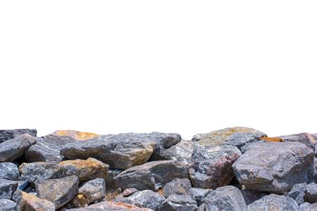 Big rock isolated on white. This has clipping path. Imagens