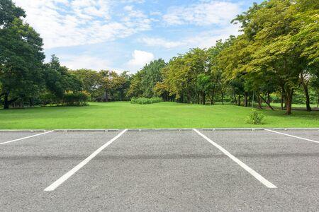 Parking lot in public park