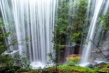 Beautiful deep forest waterfall at Thailand.