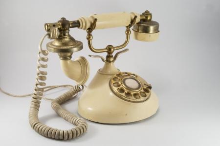 Vintage rotary phone photo