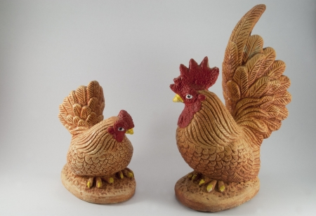 Chicken statue photo