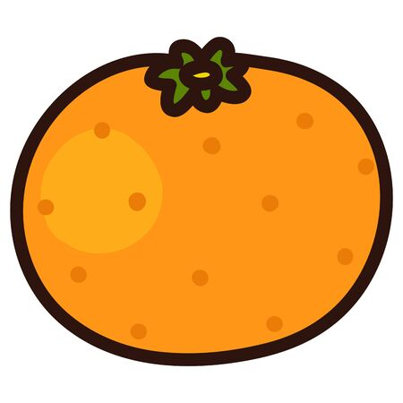 Illustration of outlined simple orange
