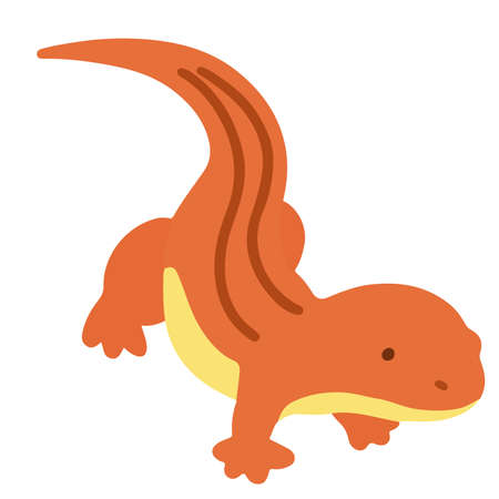 Simple flat colored Red lizard