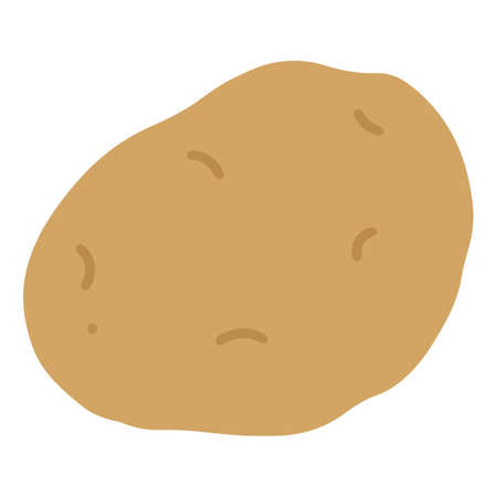Flat colored simple brown potato