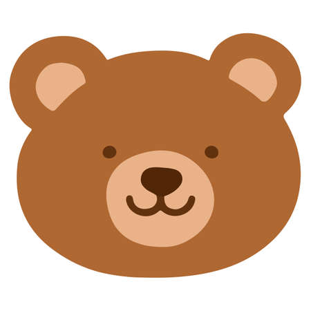 Simple and flat brown Bear