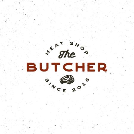 Vintage butchery retro styled meat shop emblem.