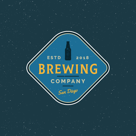 Brewery logo vector illustration