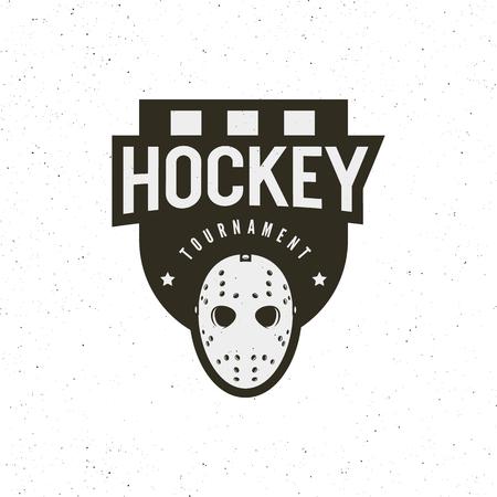 Hockey logo. sport emblem vector illustration Illusztráció