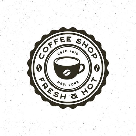 modern vintage coffee shop label. vector illustration