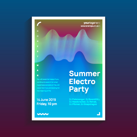 trendy modern poster. design template with vibrant gradient background. vector illustration.