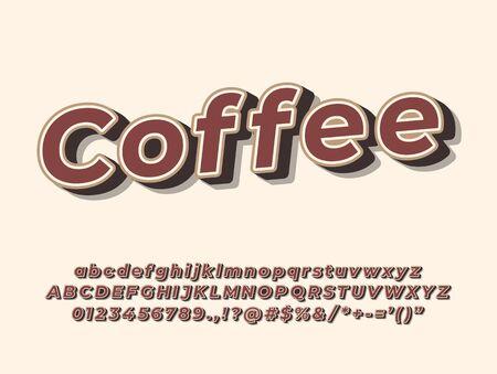 original vintage handcrafted alphabet. retro vector illustration Ilustrace