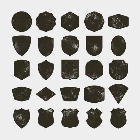 Set of 25 blank vintage frames. vector illustration