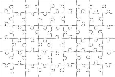 jigsaw puzzle grid background. tile vector illustration