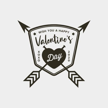 Valentines day badges and stickers. Vector illustration Ilustrace