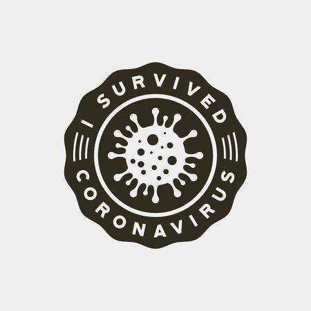 coronavirus pandemic badge. health and medical vector illustration. t-shirt design concept.