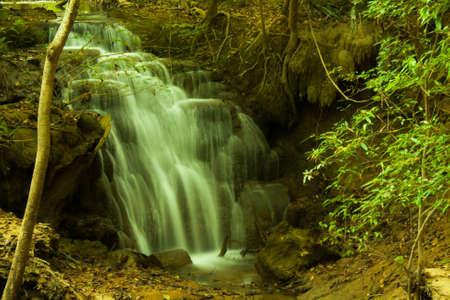 Waterfall at Huay Mae Kamin Stock Photo