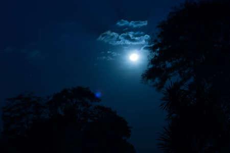 tonight: Blue sky tonight Stock Photo