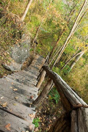 county somerset: Staircase  at Huay Mae Kamin