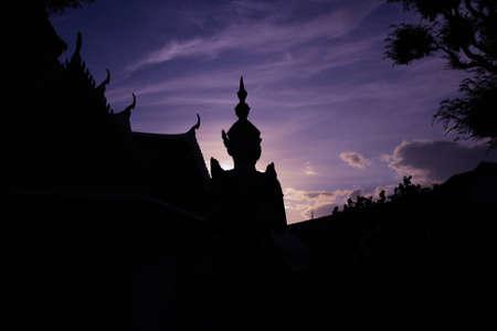 kaew: Silhouette Wat Phra Kaew I