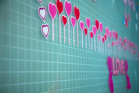 Centrepiece: Wall of love