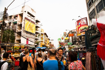 Khaosan Road in Bangkok - Thailand Editorial
