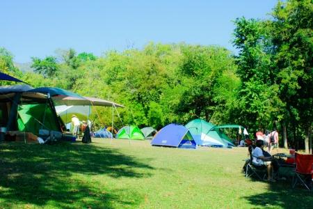Camping at huay mae khamin,Thailand photo