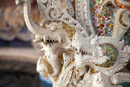 Naga Statue of The Erawan Museum,Thailand photo