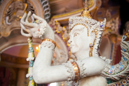aukana buddha: Angel Statue of The Erawan Museum,Thailand IV Stock Photo