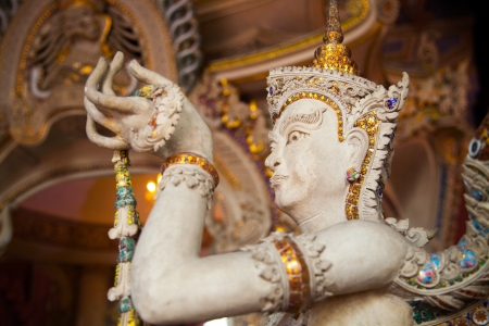aukana buddha: Angel Statue of The Erawan Museum,Thailand II Stock Photo