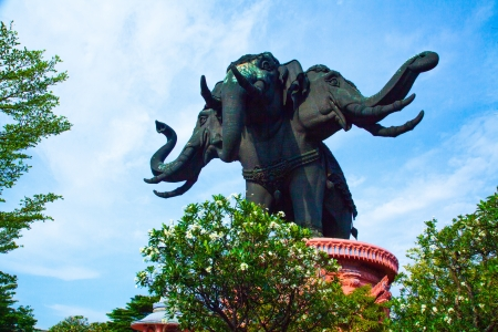 Thailand Erawan museum elephant temple III photo