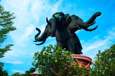 Thailand Erawan museum elephant temple II photo