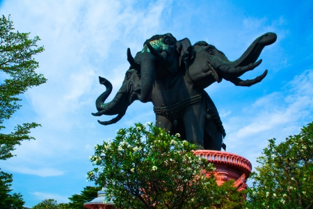 Thailand Erawan museum elephant temple IV photo
