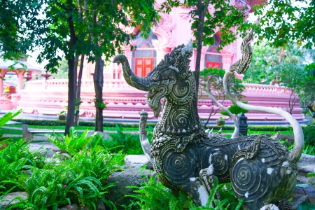 Singha Statue of The Erawan Museum,Thailand Stock Photo