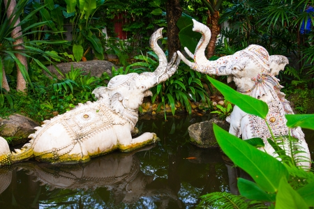Waterelephant Statue of The Erawan Museum,Thailand Stock Photo
