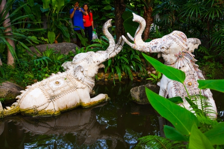 Waterelephant Statue of The Erawan Museum,Thailand photo
