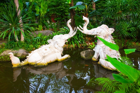 Waterelephant Statue of The Erawan Museum,Thailand photo