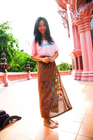 Women wear sarongs photo