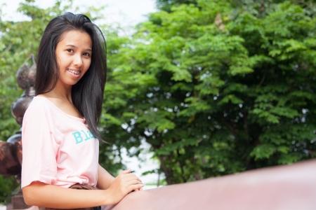 Thailand woman posing  Stock Photo