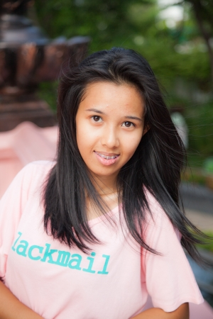 medium shot: Thailand woman posing  ,Medium Shot
