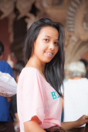 medium shot: Woman asia Thailand,Medium Shot Stock Photo