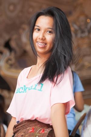 medium shot: Thailand woman smiling ,Medium Shot