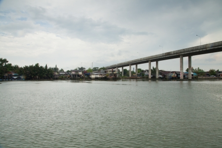 thailand s landmarks: Bridge across the river IX Stock Photo