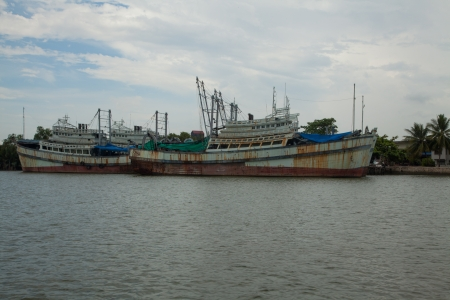 Fishing boat in Thailand IX photo
