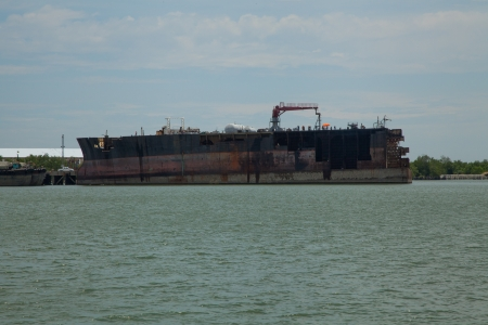 Commercial vessel that is broken II photo