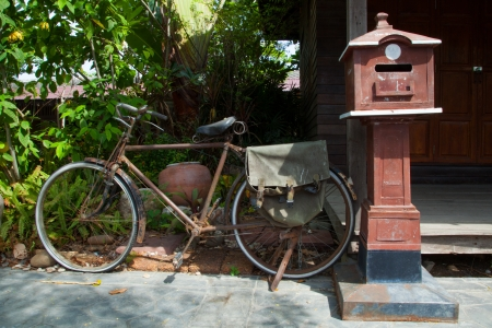 Letterbox and postal service, classic Thailand Stock Photo