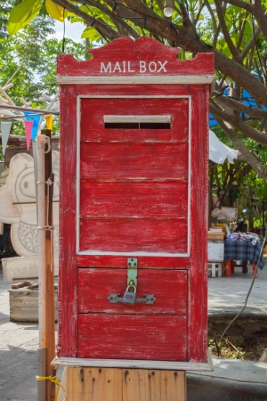 letterbox: Antique Letterbox,Thailand II Stock Photo