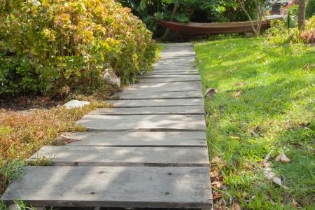Wood walkway IV photo