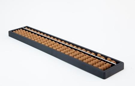 Abacus on white II Stock Photo